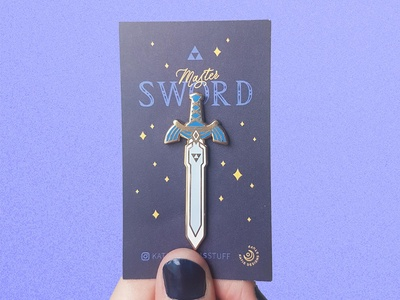 Master Sword Gold Enamel Pin
