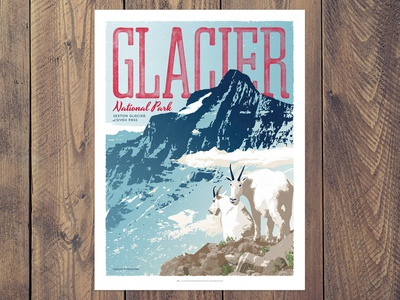 Glacier National Park Poster - Siyeh Pass