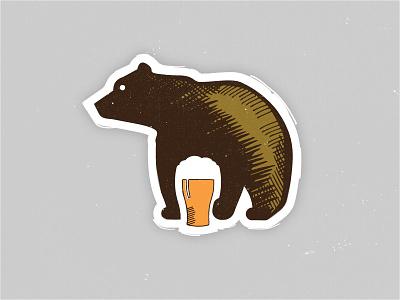 Great Bear Logo beer bear logo