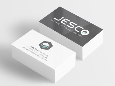 Jesco Business Card branding boating logo design business card