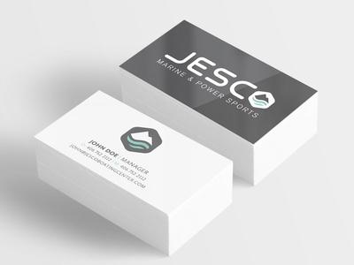 Jesco Business Card branding boating logo design business card