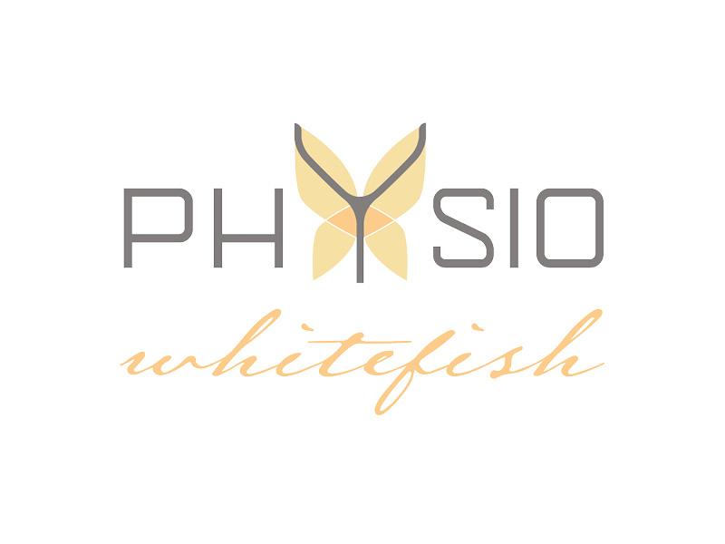 Physio Whitefish Logo Design branding rebrand logo design butterfly