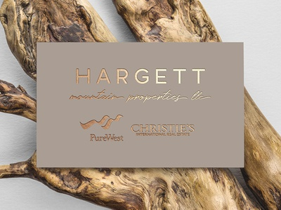 Hargett Mountain Properties LLC Logo gold foil business cards branding identity logo design