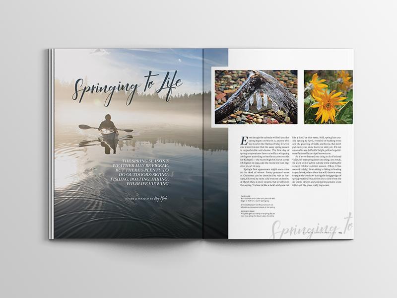 Flathead Living Magazine Layout pagination layout flathead valley montana lifestyle magazine