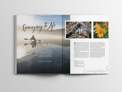 Flathead Living Magazine Layout pagination layout flathead valley montana lifestyle magazine