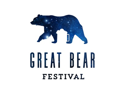 Great Bear Festival stars beer bear logo design