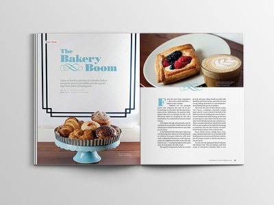 Flathead Living Magazine Layout bakery pagination layout flathead valley montana lifestyle magazine