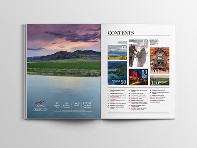 Pure Montana Magazine 2018 design print layout magazine