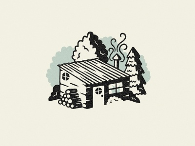 Dream Home keep it simple cozy cabin illustration drawing