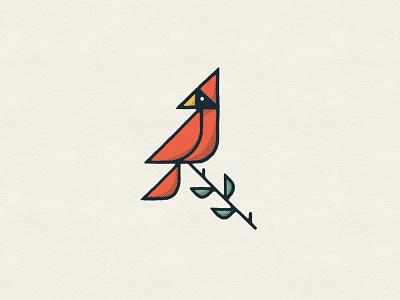 Cardinal halftone procreate ipad doodle minnesota illustration bird
