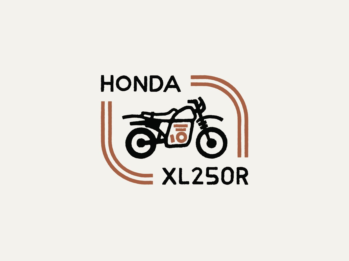 Dual Sport dual sport simple badge motorcycle honda
