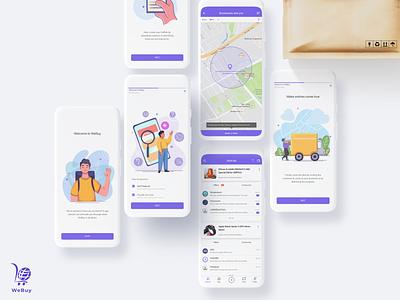 WeBuy ecommerce online store online marketing online shopping ui ux onboarding clean illustration