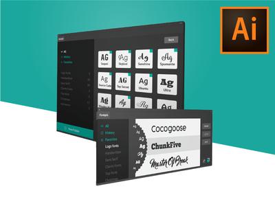 Illustrator plugin - Pick, manage and explore fonts