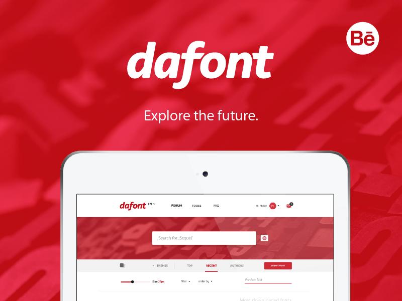 Dafont designs on dribbble dafont rebranding concept stopboris Images
