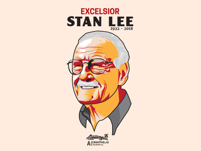 Excelsior Stan Lee tribute marvel stanlee icon design