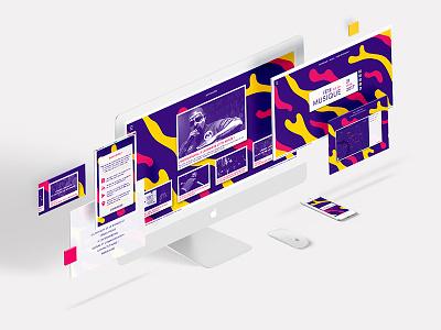UI / UX - Fête de la Musique (part 2) graphic web ui ux app iphone music event branding purple yellow pink