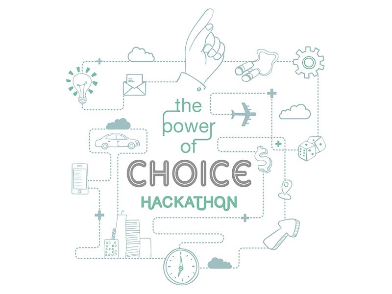 Choice Hackathon poster design illustration t-shirt