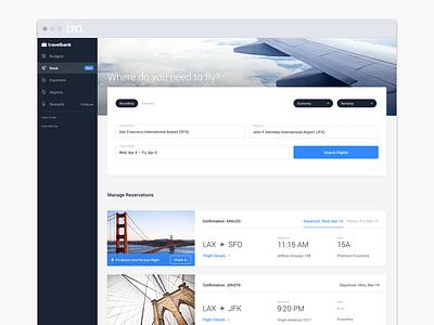 Desktop Flight Booking travelbank reservations flight travel business search desktop web ux ui