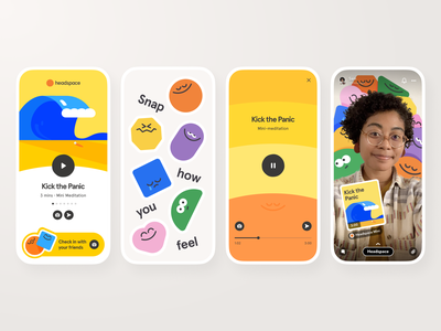 Headspace Mini headspace sharing friend snap snapchat filter snapchat lens snapchat mindfulness meditation community