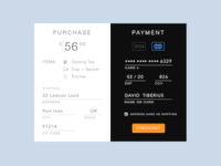 002 - Credit Card Checkout Page