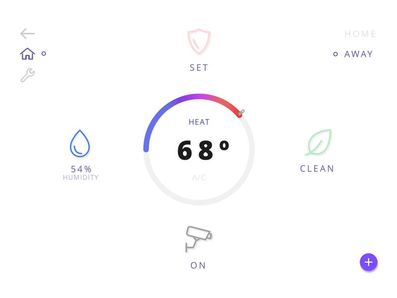 021   home monitoring dashboard dribbble