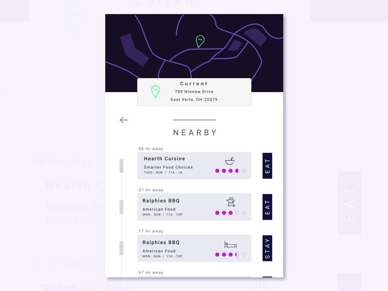 020 - Location Tracker gps location tracker location purple minimal dailyui daily 020 sketch