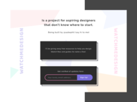 Watchmedesign - landing page