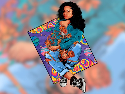 Ella Mai with psychedelic feel