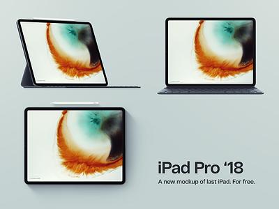 iPad Pro 2018 Mockup Three Views mock-ups free mock up 2018 ipad pro ipad download mockup
