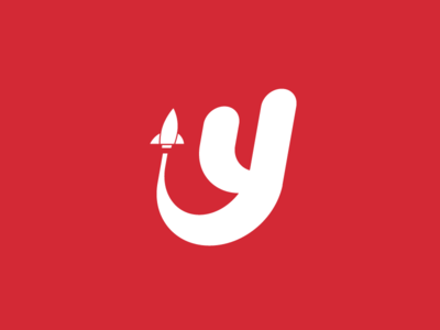 Youthpire Brand Identity brand identity rocket launch red logo youth