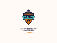 Startup Arena brand identity badges football startup colorful design branding logo