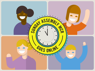 Sunday Assembly MCR goes Online after effects design branding logo flat vector illustrator illustration motion