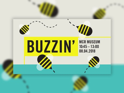 🐝 Buzzin' - Sunday Assembly MCR sunday assembly manchester bees design community graphic event social illustration