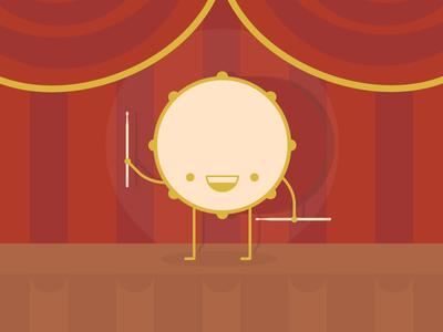 🥁 Hey Drum 🥁 flat music drum illustrator illustration