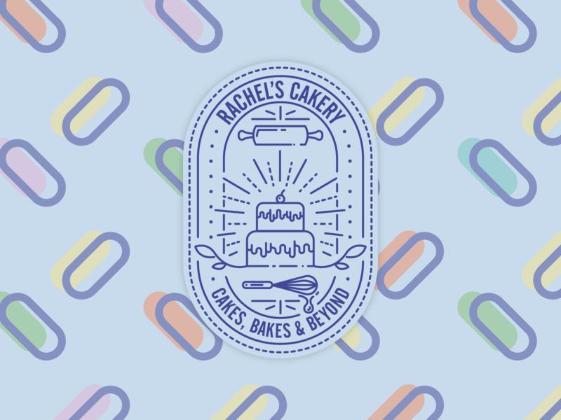 🧁 Rachel's Cakery Logo 🧁 icon design branding flat graphic vector illustrator illustration logo design logo