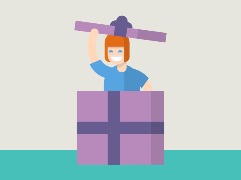 Gift Illustration 🎁 flat drawing vector illustrator illustration