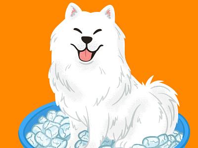 Samoyed doggo icepool samoyed illustration doggust
