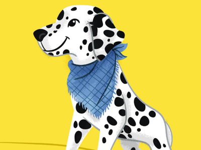 Dalmatian august dog doggo dalmatian illustration doggust