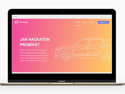 Illustrated web and logo design event outlined white vehicle car gradient logo website illustration