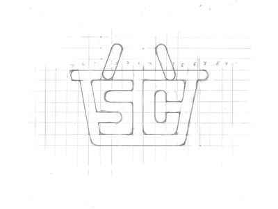 Logo Sketch for a shopping app sketch pencil pen marker logo identity font face calligraphy brush branding