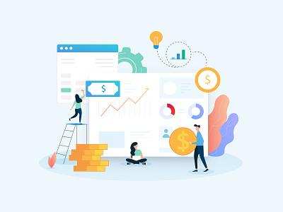 Finance portal staysafe covid finances finance vector illustration illustraion design