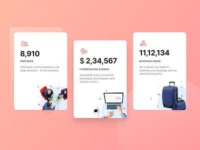 Cards with Stats cards design minimal flat design material design card cards ui branding design