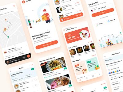 Food ordering app appdesign user experience design user experience delivery app food app ui ux app design illustration illustraion typography