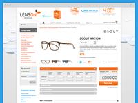 LensOn Prescription Page