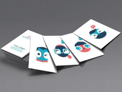 earlyfund branding business card