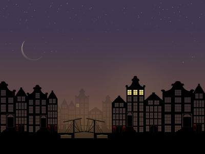 Night night, Red Light. amsterdam red light illustration