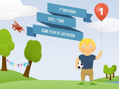 1st birthday party invite park invite birthday