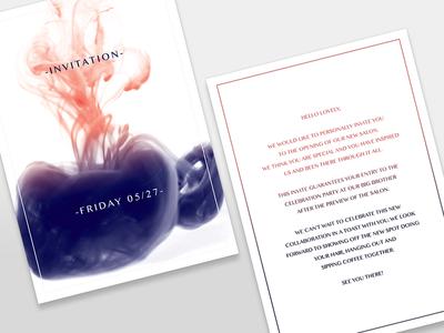 Invititation grand opening  smoke invite