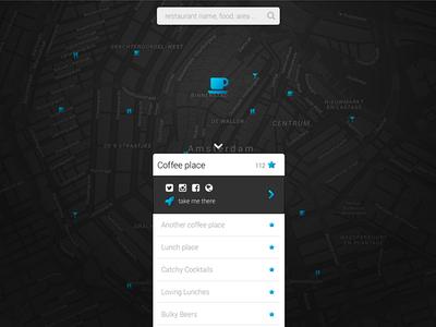 Faved Amsterdam map sketch favorites places website