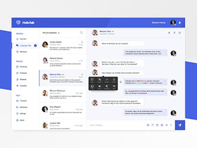 Concept - HelloTalk Desktop Application   Search by Muzli